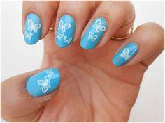 Konad Stamping Nail Art Tutorial: Beginner level … Own a stamp set, but mine … - Nail Design Diy Animal Nail Designs, New Nail Designs, Short Nail Designs, Simple Nail Designs, Cute Nail Art, Nail Art Diy, Nail Art Games, Konad Stamping, Nailart