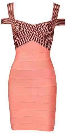 Bandage Dress, Beautiful salmon pink