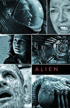 Alien (1979) ~ Alternative Movie Poster by Benjamin Capazo.