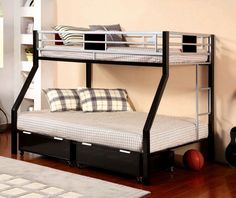 Bunk beds are a great option for small bedrooms as it saves on floor space. design can be modified easily for twin over queen bunk beds as well. A quirky L-shape could give a quirky dimension to your bedroom décor.