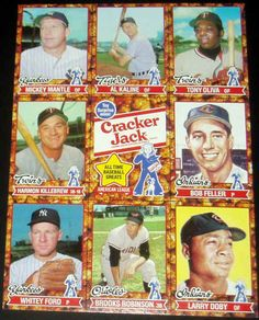 1982 Cracker Jacks All Time Greats Larry Doby, Cracker Jacks, Mickey Mantle, Major League, Back In The Day, Vintage Advertisements, Peanuts, Cleveland, All About Time