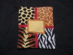 iPad Case Sleeve Animal Pattern Needlepoint by TatersTextiles, $45.00 to give your iPad wild style!