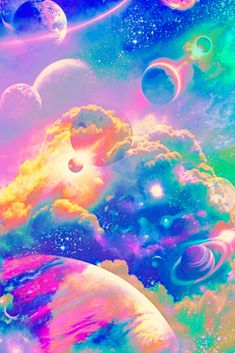 #glitter #sparkle #galaxy #moon #sky #stars #clouds #rainbow #space #planets #dream #universe #cosmos #colorful #wallpaper