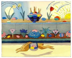 """we love the vintage illustrations of """"The Rabbit Book of K. F. E. Von Freyhold"""""""