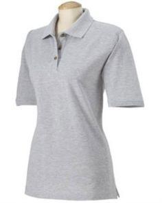 Harvard Square Women`s Short Sleeve 100% Pique Polo Shirt HS152 $3.49
