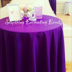 Table and centerpieces