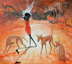 Paintings by Judy Prosser Aboriginal Painting, Australian Art, Indigenous Art, Art Drawings, Moose Art, Projects To Try, Arts And Crafts, Earth, Paintings
