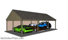 Carport Plans for 3 Cars