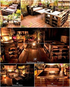 pallet patio lounge furniture