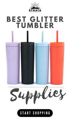 GET BEST DEALS for Strata Cups 16oz Skinny Tumblers With FREE Straw Cleaner! Reusable Cup With Straw | Vinyl DIY Gifts (Multicolors, 4) Powder coat matte finish and sleek shape make a perfect surface for adding your own customized flair, such as decals, stickers, glitters, paint or rhinestones! Travel Cup Set for Coffee, Water, Tea, Lemonade, Smoothie • sports • workout mug • tumbler for women #customtumblers #tumblerdecals #weddingtumbler #partyfavors #acrylictumbler #partytumbler Clear Tumblers, Vinyl Tumblers, Acrylic Tumblers, Plastic Tumblers, Custom Tumblers, Party Favors For Kids Birthday, Reusable Cup, Travel Cup, Tumbler Designs