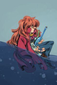 Fujimoto from Ponyo Studio Ghibli Art, Studio Ghibli Movies, Ponyo Anime, Howls Moving Castle, Hayao Miyazaki, Manga, Totoro, Fan Art, Drawings