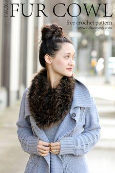 Crocheted Fur Scarf...free crochet pattern made using pelt yarn!  // Delia Creates