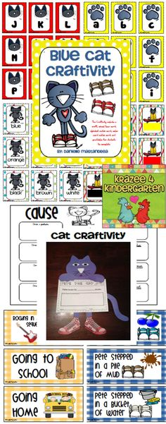 Groovy cat- Includes school tour cards, alpha matching, color cards and more- Perfect for back to school!
