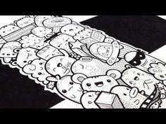 DIY Doodle Bookmark - YouTube