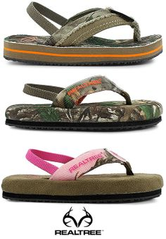 #New Realtree #Camo Infants' Sandals - cushioned footbed for superior comfort. $19.98  #Realtreecamo #infantshoes