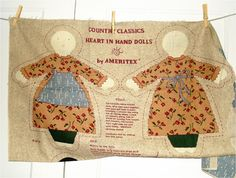 1980s Vintage country Dolls Cut and Sew Panel 2 by sweetmeadowstwo, $9.99
