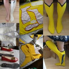 This is how I made my Spider woman boots! First I had my foot taped, then cut it into pattern pieces - kythanacosplay