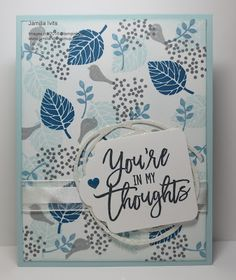 Stampin' Up! Thoughtful Branches, Jamilla's Stampin' Grounds: Leaves don't have to be green....