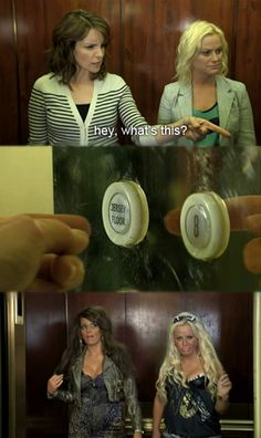 "Tina Fey and Amy Poehler, ""Jersey Floor."" These ladies never cease to crack me up!"
