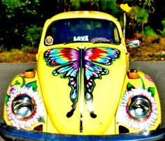 Yellow Punch Buggy by Kimberly Dawn Clayton - Yellow Punch Buggy Photograph - Yellow Punch Buggy Fine Art Prints and Posters for Sale Hippie Auto, Hippie Car, Hippie Style, Hippie Chick, Volkswagen Bus, Vw Camper, Campers, Yellow Punch, Vans Vw