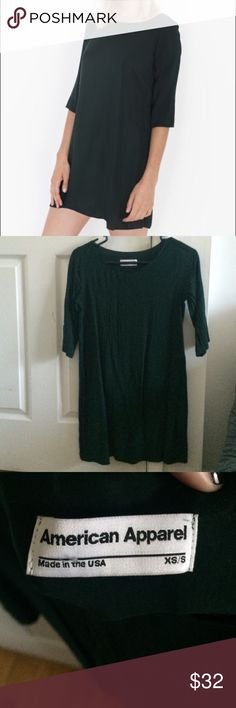 AA Rayon Tent Dress Never worn! Do not put this is the dryer it will shrink a lot American Apparel Dresses Mini