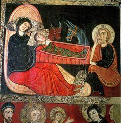 The Nativity, from the Altarpiece of St. Maria de Avia, Museu d'Art de Catalunya, Barcelona