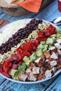 Southwestern Cobb Salad with Avocado Cream Dressing