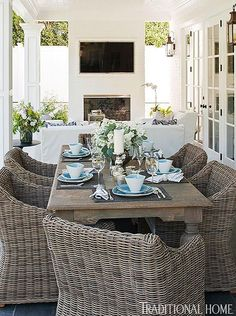 Wicker Dining Chairs, Patio Dining, Dining Area, Patio Chairs, Outdoor Chairs, Dining Decor, Dining Sets, Office Chairs, Dining Tables