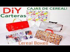 Carteras Hechas de cajas de cereal - YouTube