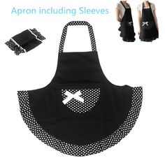 Cute Cooking Apron BowKnot 【ᗑ】 Kitchen Restaurant Cooking Aprons With Pocket for Women 【 Sleeved apron (0_*) Cute Cooking Apron BowKnot Kitchen Restaurant Cooking Aprons With Pocket for Women Sleeved apron (0_^)