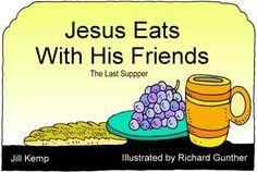 laatste avondmaal Jezus eet met zijn vrienden (zwart-wit)