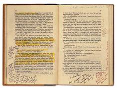 Anotaciones de Stanley Kubrick en su copia de la novela El Resplandor de Stephen King. Pág 86-87