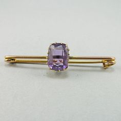 Hey, I found this really awesome Etsy listing at https://www.etsy.com/listing/169226162/vintage-gold-brooch-9k-gold-purple
