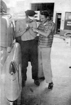 Elvis and Scotty Moore (1950's)