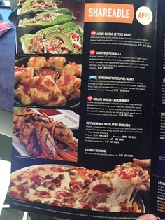 Dave & Buster's, Washington, DC, May 2017 Sport Bar Design, Smoke Grill, Chicken Lettuce Wraps, Buffalo Wings, Edamame, Calorie Counting, Pepperoni, Washington Dc, Chicken Wings