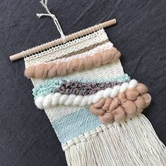 Mint Woven Wall Hanging Weaving Tapestry Wall Art