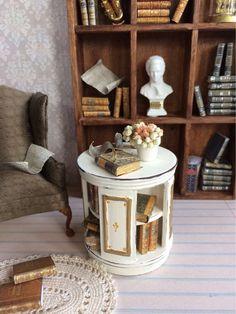 Casa de Muñecas Miniatura Pintura Artista Caja con Cajón Kit 1:12 Escala