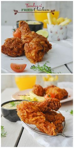 Fried chicken with a nice authentic Indian tandoori flavour.