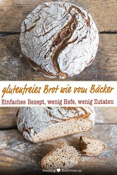 Das beste glutenfreie Brot This bread is one of my absolute favorite gluten-free breads. The recipe is simple. There are only a few ingredients in the bread, little yeast and no ready-made flour mix. It tastes like bread from the baker! Muffins Sans Gluten, Dessert Sans Gluten, Easy Gluten Free Desserts, Gluten Free Baking, Easy Desserts, Bread Machine Recipes, Easy Bread Recipes, Banana Recipes, Pains Sans Gluten