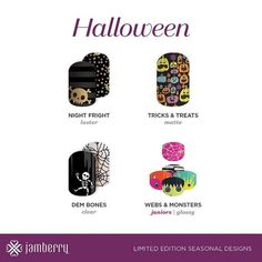 2016 Jamberry halloween wraps have launched and they are spooky and fun to the max! Get your halloween wraps from Jamberry NOW.
