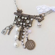 """Isabelle Necklace Item PN042 This mixed metal masterpiece measures 22″ – 23″ and is adjustable $24    var addthis_config = {  url: """"/product/isabelle-necklace/"""",  title: """"Isabelle Necklace"""" }"""