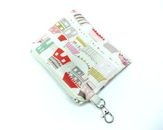Bazaar houses carnival party zipper pouch by spacefem on Etsy, $8.00