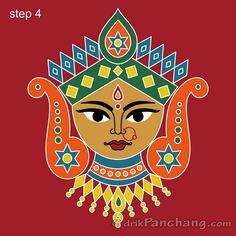 Durga Maa Paintings, Durga Painting, Kerala Mural Painting, Art Painting Gallery, Indian Art Paintings, Mirror Painting, Madhubani Art, Madhubani Painting, Bengali Art