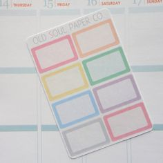Half-Box Planner Stickers  Pastel by OldSoulPaperCo on Etsy