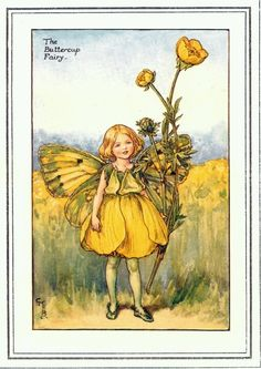 Fairy: The Buttercup Fairy, by (CMB) Cicely Mary Barker, 1935