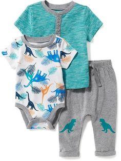 Bodysuit, Henley & Pants Set for Baby