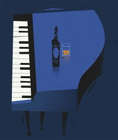 Bruno Plays The Blues by Peter Donnelly, via Behance