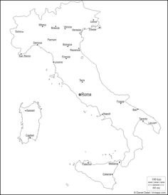 Italy Free Map Main Cities