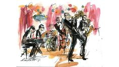 The Brian Newman Quintet by Luma Rouge - http://art-nerd.com/newyork/the-brian-newman-quintet-by-luma-rouge/