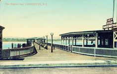 A postcard from John Mackie collection. Front reads: Pier English Bay, Vancouver, BC.